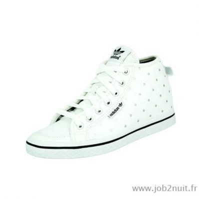 adidas honey up w chaussures sneakers femme cuir blanc