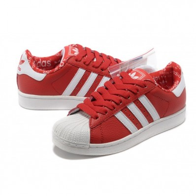 baskets adidas superstar femme rouge