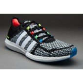 adidas cosmic boost black white solar blue