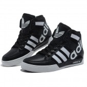 adidas high tops black and white