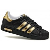 adidas superstar noir gold