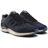 baskets adidas zx flux camo navy black white