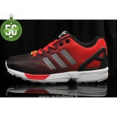 baskets adidas zx flux rouge noir carbon