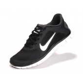 nike free run 4.0 black and white