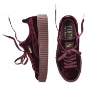 puma by rihanna creeper burgundy