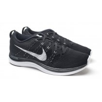 nike flyknit lunar 1 black and white
