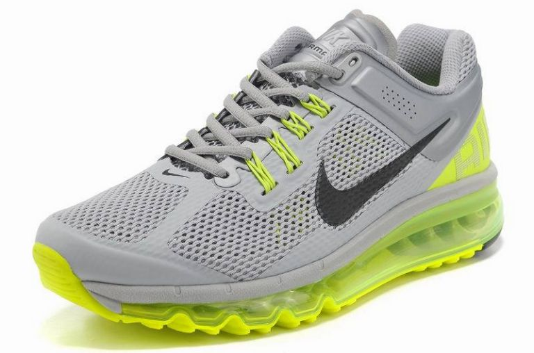 nike air max 2013 france, pas chère Nike Air Max 2013 France Vente Homme Cool Gris Volt Vert EQ21388