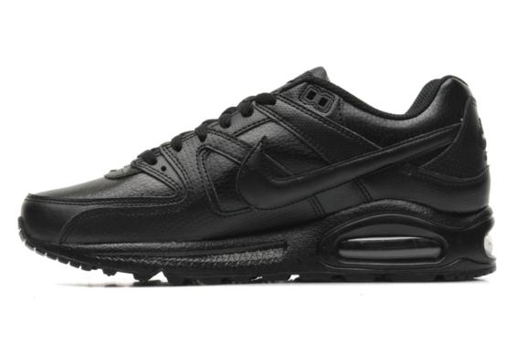 nike air max noir command, Air max command leather Black/black-White