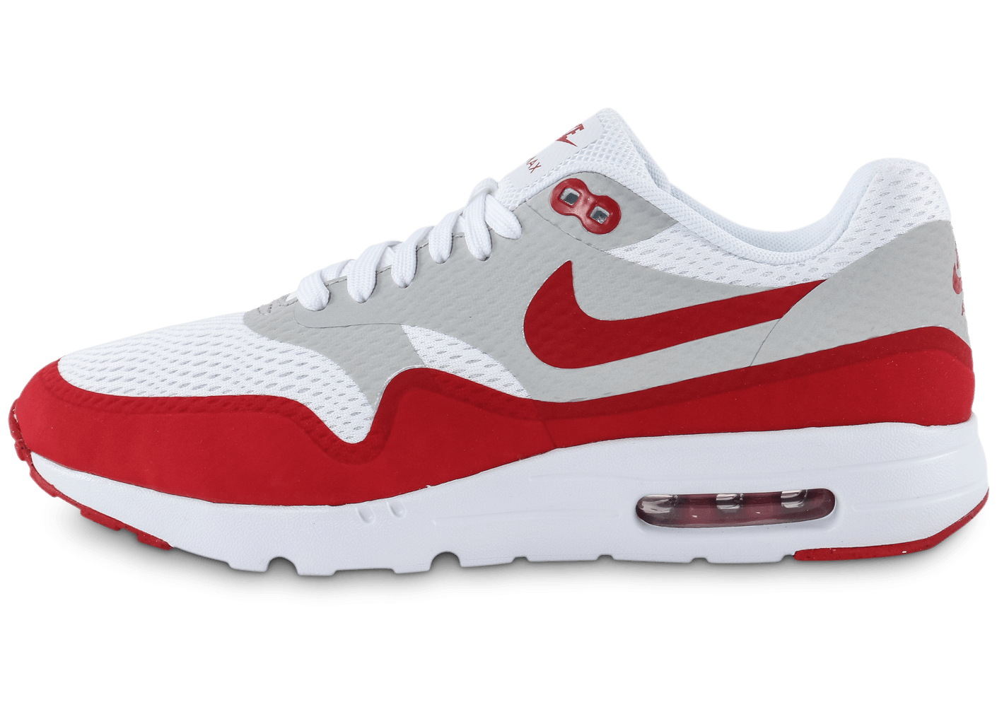 nike air max rouge blanche, Cliquez pour zoomer Chaussures Nike Air Max 1 Ultra Essential blanc rouge vue extérieure Chaussures ...
