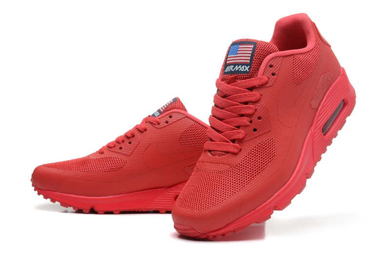 nike air max rouge usa, Nouveaux Designs Hyperfuse Sportswear Air Max 90 Nike USA Independence Day QS Baskets Rouge Sport UJ87613 Expédition Ra
